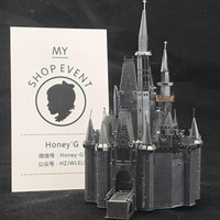 Cinderella Castle Puzzle 3D Metal Assembly Model Creative Gift Souptoys Fairy Tale World Prince Gift Collection