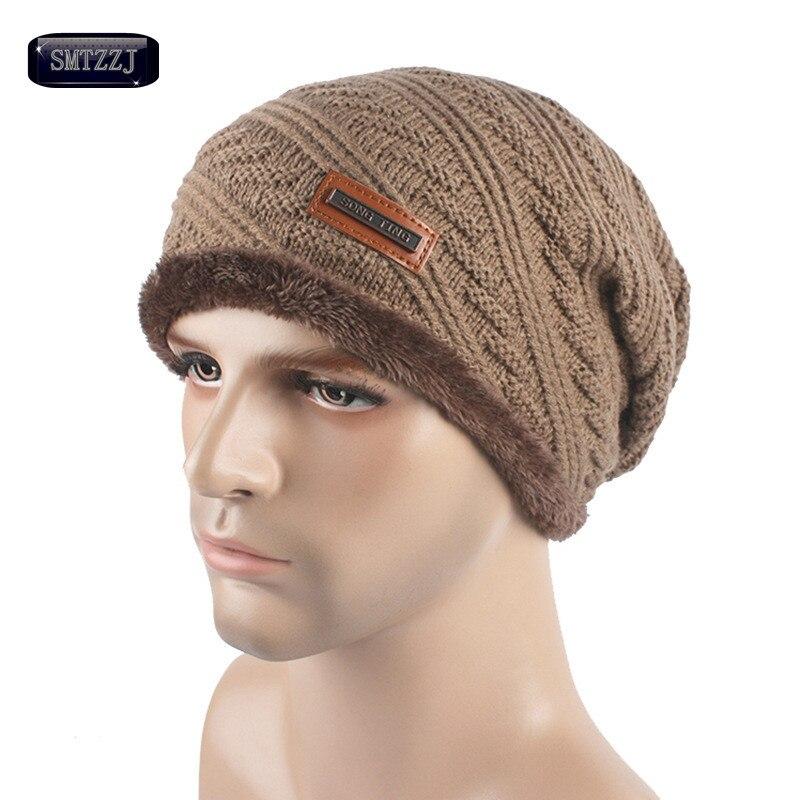 SMTZZJ Men s New Style Fashion Winter Hat Skullies Beanies Man Hat Knit Hat  Cap For Men Beanie Pure Color Headgear Cheap Caps 1185f589257