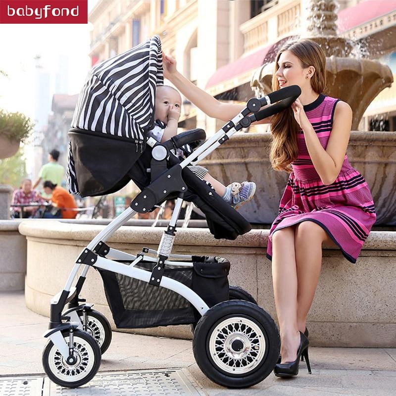 Yabei High Landscape Baby Stroller Umbrella Car Folding Handcart Bb Two way Suspension