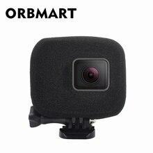 أوربمارت الإسفنج رغوة حافظة غطاء الرياح الحد من الضوضاء الزجاج الأمامي تعزيز التقاط الصوت ل Gopro بطل 5 6 7 8 كاميرا رياضية سوداء