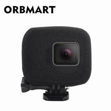 ORBMART スポンジフォームカバーケース風ノイズリダクションフロントガラス強化されたオーディオキャプチャ移動プロヒーロー 5 6 7 8 黒スポーツカメラ