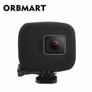 Image 1 - ORBMART Sponge Foam Cover Case Wind Noise Reduction Windshield Enhanced Audio Capture For Gopro Hero 5 6 7 8 Black Sport Camera