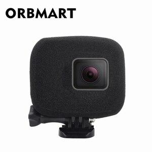 Image 1 - ORBMART ספוג קצף כיסוי מקרה רוח רעש הפחתת שמשה קדמית משופר אודיו לכידת עבור Gopro Hero 5 6 7 שחור ספורט מצלמה