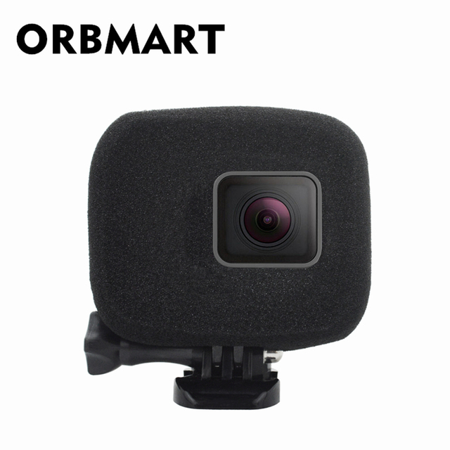 ORBMART ספוג קצף כיסוי מקרה רוח רעש הפחתת שמשה קדמית משופר אודיו לכידת עבור Gopro Hero 5 6 7 שחור ספורט מצלמה