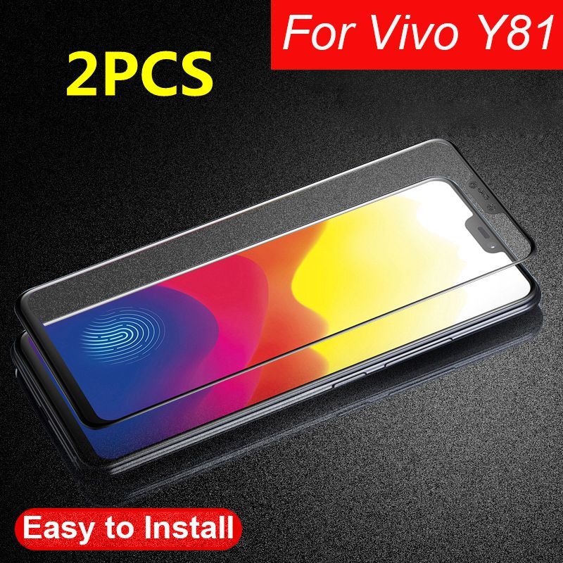 2Pcs Full Glue 3D Tempered Glass For Vivo Y81 Full Cowl Protecting Movie Display screen Protector For Vivo Y81