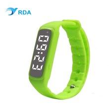 RDA Smart запястье 2 Фитнес трекер часы, счетчик шагов Браслет сна шагомер светодиодный цифровой браслет для мальчиков и девочек подарок