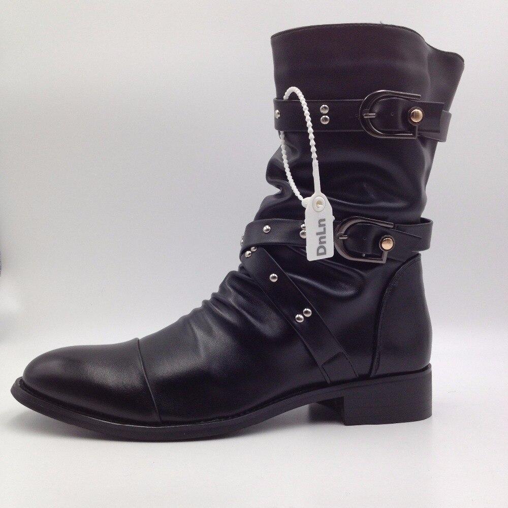 Botte Homme Bottines de haute qualité Man Martin en cuir noir taille7 GLBnx6