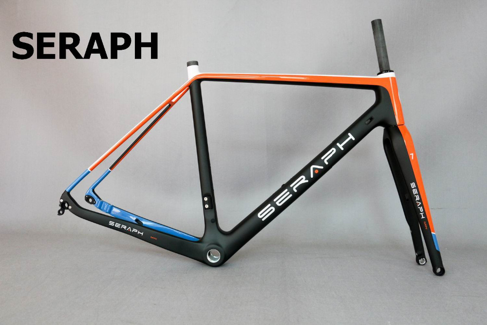 2018 Available Gravel 700C Carbon Bike Frame,SERAPH bikes Thru Axle 142mm Gravel Di2 Carbon Cyclocross Frame Disc GR029  seraph 2018 carbon fiber cyclocross bike carbon cyclocross frame 142 12mm rear thru axle fm286 carbon frame 56 color paint