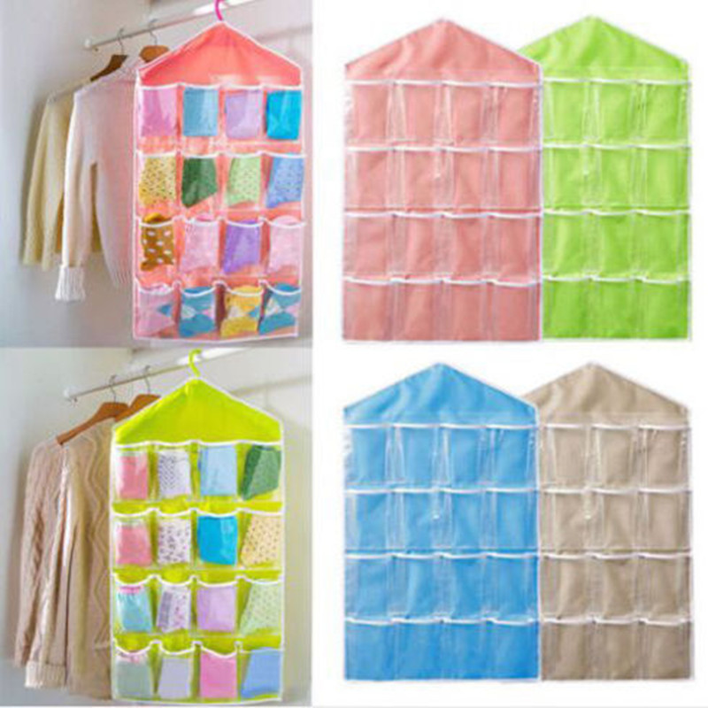 Vintage Closet Door Home Wall Hanging Organizer Toys Container Pocket Pouch Room Storage Bags