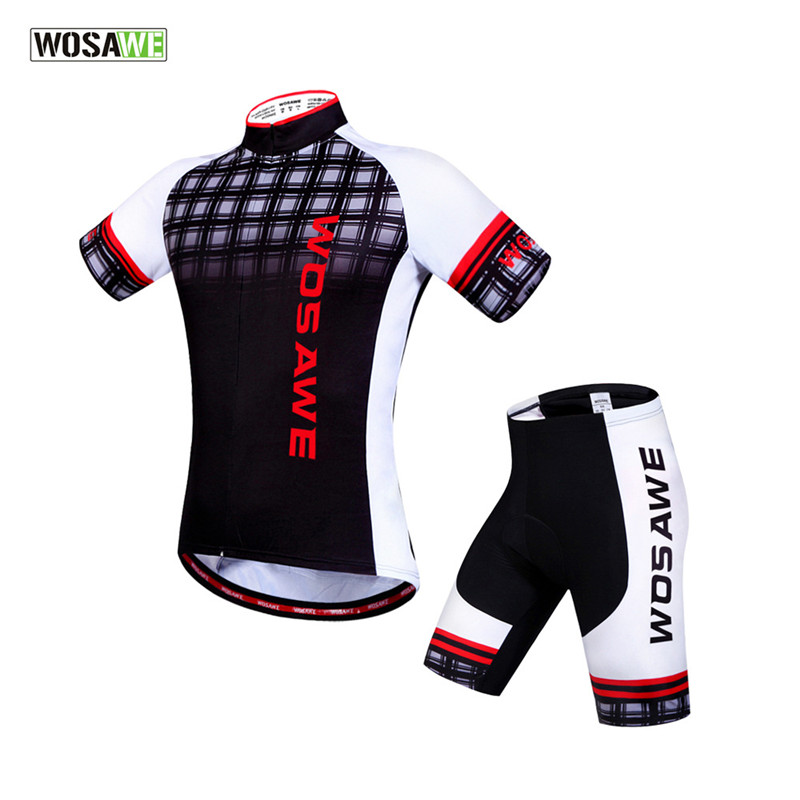 WOSAWE 2018 Team Ciclismo Cycling Short Men Cycling Jersey Bicycle MTB Sportswear Suit Mountain Bike Clothing Sets