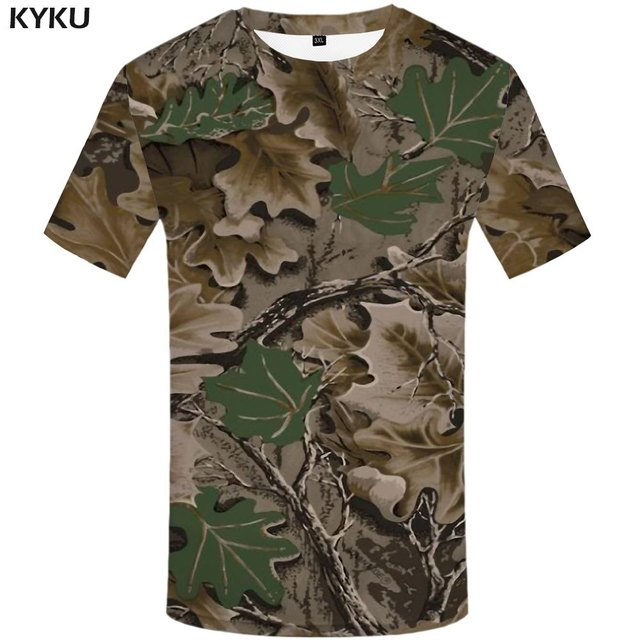 Funny T shirts Leaf T shirt Men Camouflage T-shirts 3d Military Tshirt Printed Vintage Shirt Print Harajuku Anime Clothes