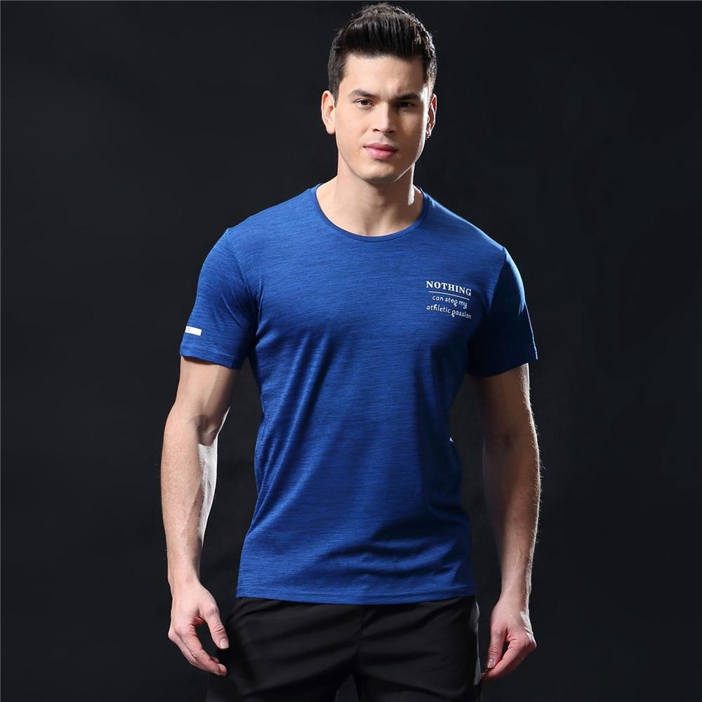 GANYANR Running T Shirt Men Basketball Tennis Sportswear Tee Sport Fitness Gym Jogging Tops Slim Fit quick dry Exercise Training 24