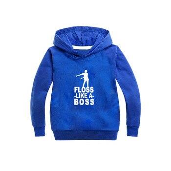 Hip Hop Floss Wie EIN Chef Kleidung Junge Mädchen Kleidung Mit Langen Ärmeln T Hemd Tupfte Coole Tops Frühling Herbst Fortnight hoodie Shirt