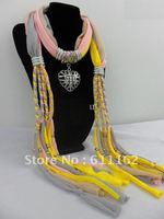 2013 Korean Scarf Jewelry Pendant Necklace Fashion Womens Soft Scarves Jewellery Scarf Pendant Mixed Design Mixed