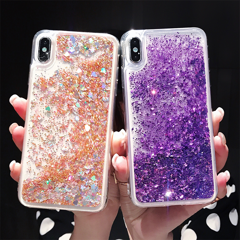 22a7841f044 Luxury Bling Case For iPhone X XS Max XR Dynamic Glitter Liquid Quicksand  Water Case Cover For iPhone 6 6s 7 8 Plus Fundas Coque