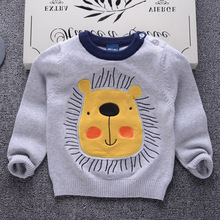 Sweater For Boys 2018 New Fashion Cartoon Knit Sweater Baby Winter Casual Girls Pullover School Kids Sweater Infant Clothes Top striped sweater for boys 2018 brand design fall girl pullover baby boy casual sweater infant knit sweater children clothes