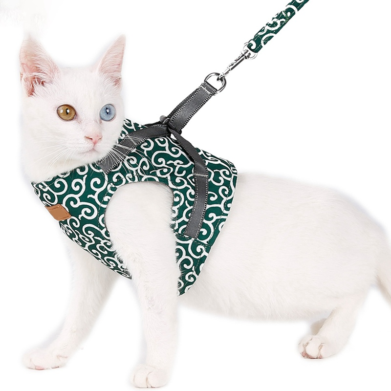 Cat Vest Harness and Leash Set Escape Proof Cat Japanese Style Harness for Outdoor Walking|Cat Collars & Leads|   - AliExpress