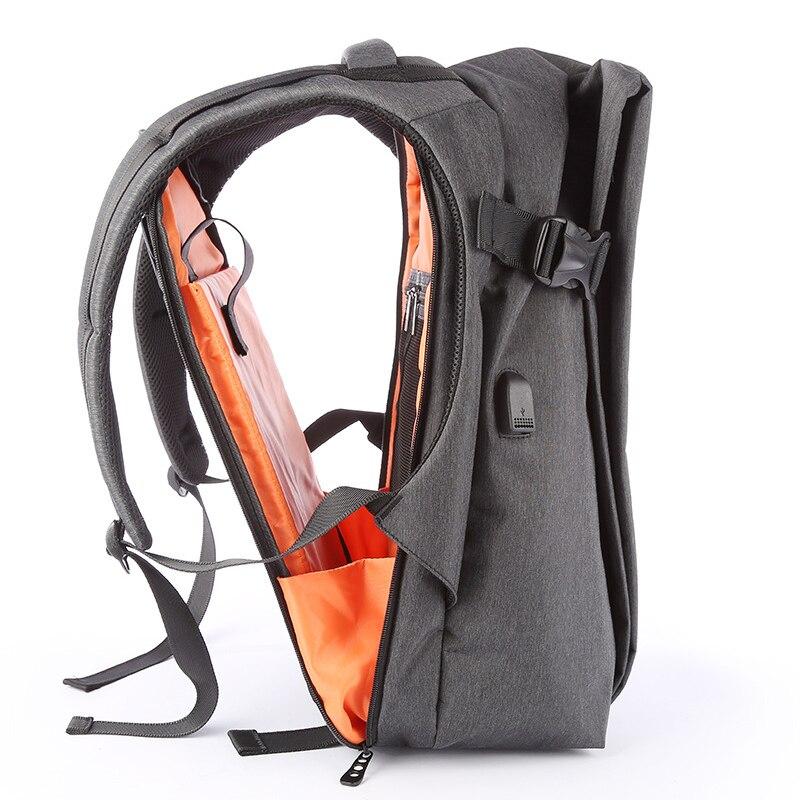 Image 3 - Мужской рюкзак для мальчиков, сумка через плечо, usb зарядка, сумка для ноутбука, модная сумка для ноутбука, для путешествий на открытом воздухе, Оксфорд, Спортивная, водонепроницаемая, 14 дюймов-in Сумки и чехлы для ноутбука from Компьютер и офис