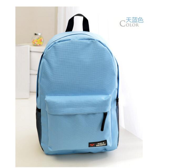 2017 Hot Sale New Fashion Women Canvas Backpack Simple Student School Bag For Girl Casual Solid Color Travel Bag Gift