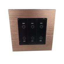 1 2 3 4 5 6 Gang duvar geçiş sıfırlama anahtarı düğme anlık kontak anahtarı akıllı ev otomasyonu için diy