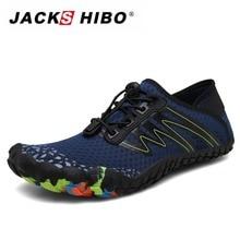 JACKSHIBO Summer Adult Swimming Shoes Men Sneakers Aqua Breathable Beach Barefoot Diving Fishing Sapatos Praia
