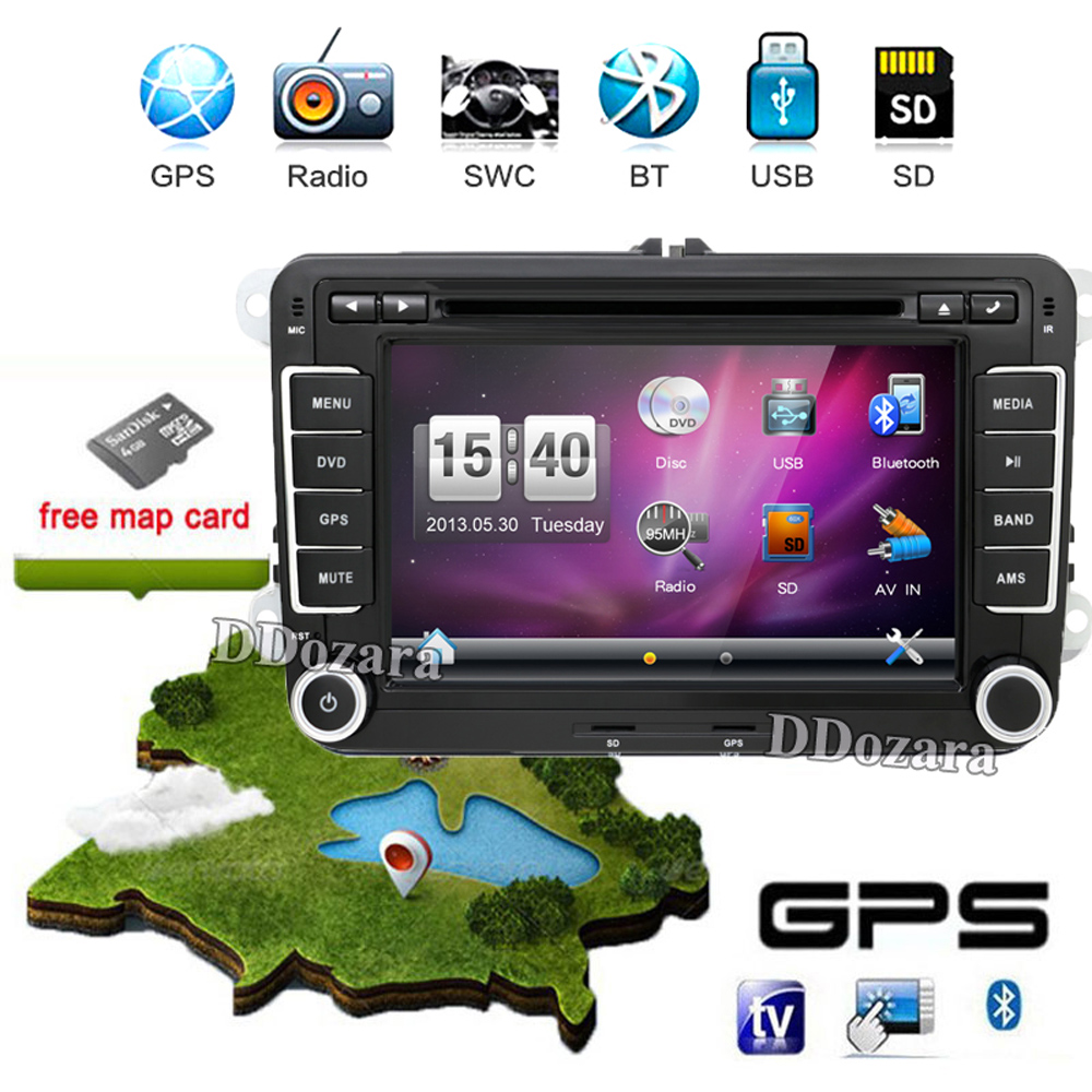 купить  7 inch 2 din Multimedial VW Car DVD GPS Navigation audio camera TV player for GOLF 6 new polo New Bora JETTA B6 PASSAT SKODA Map  по цене 3895.99 рублей