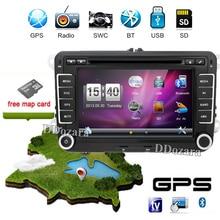 7 pulgadas 2 din Multimedial VW Del Coche DVD GPS de Navegación de audio cámara de TELEVISIÓN jugador de GOLF 6 nuevo polo Nuevo Bora JETTA PASSAT B6 SKODA Mapa