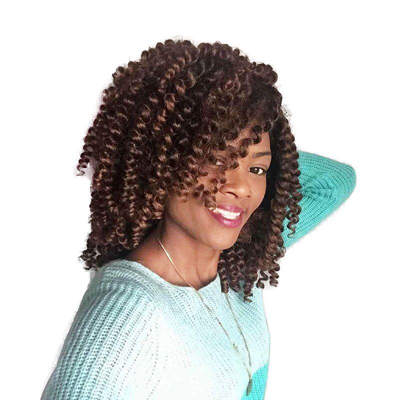 10 20 нитей нервный палочка Curl Косы Волос ямайский отказов крючком Твист косы в африканском стиле коллекции плетение волос