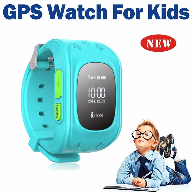 DHL GPS Tracker Watch For Kids SOS Emergency Anti Lost Bracelet Wristband Q50 Wearable Devices OLED