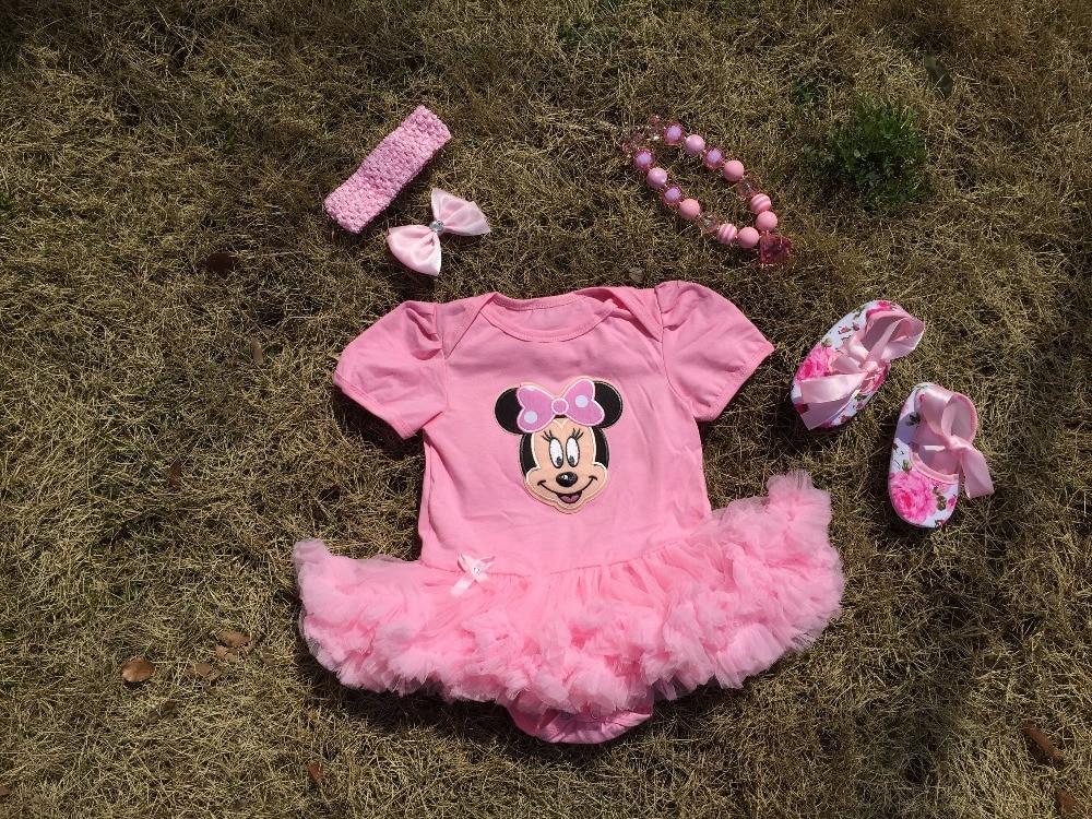 b7ab77f423dfe 2016 جديد وصول الطفل بنات ميكي ميني ملابس الطفل الاطفال بوتيك طفلة الملابس  الوليد الرضيع فتاة توتو اللباس بذلة