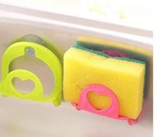 Rak Dish Mudah Pemegang Sponge Rak Dengan Cawan Suction Home DapurSucking Sink Storage Shelf Container #BF