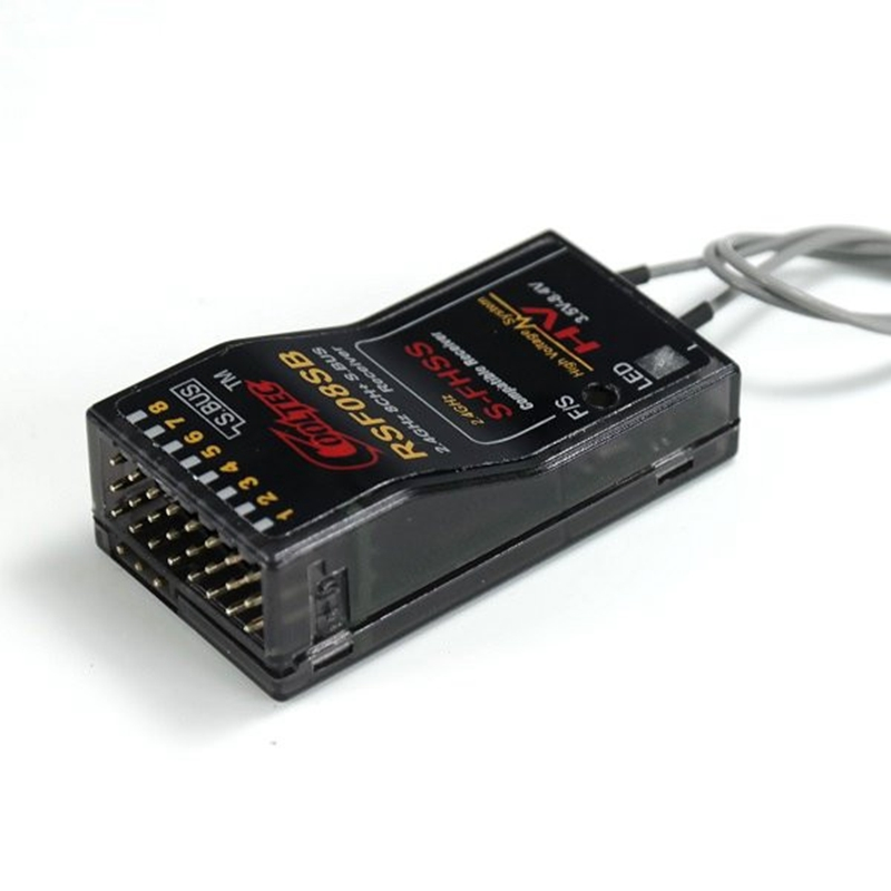 Récepteur CoolTec RSF08SB 8CH Compatible pour émetteur Futaba S-FHSS S. BUS 10J 8J 6J 4GRS 4PX