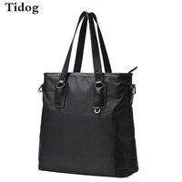 Tidog The new nylon tote bag vertical sportswear men's business Satchel Handbag