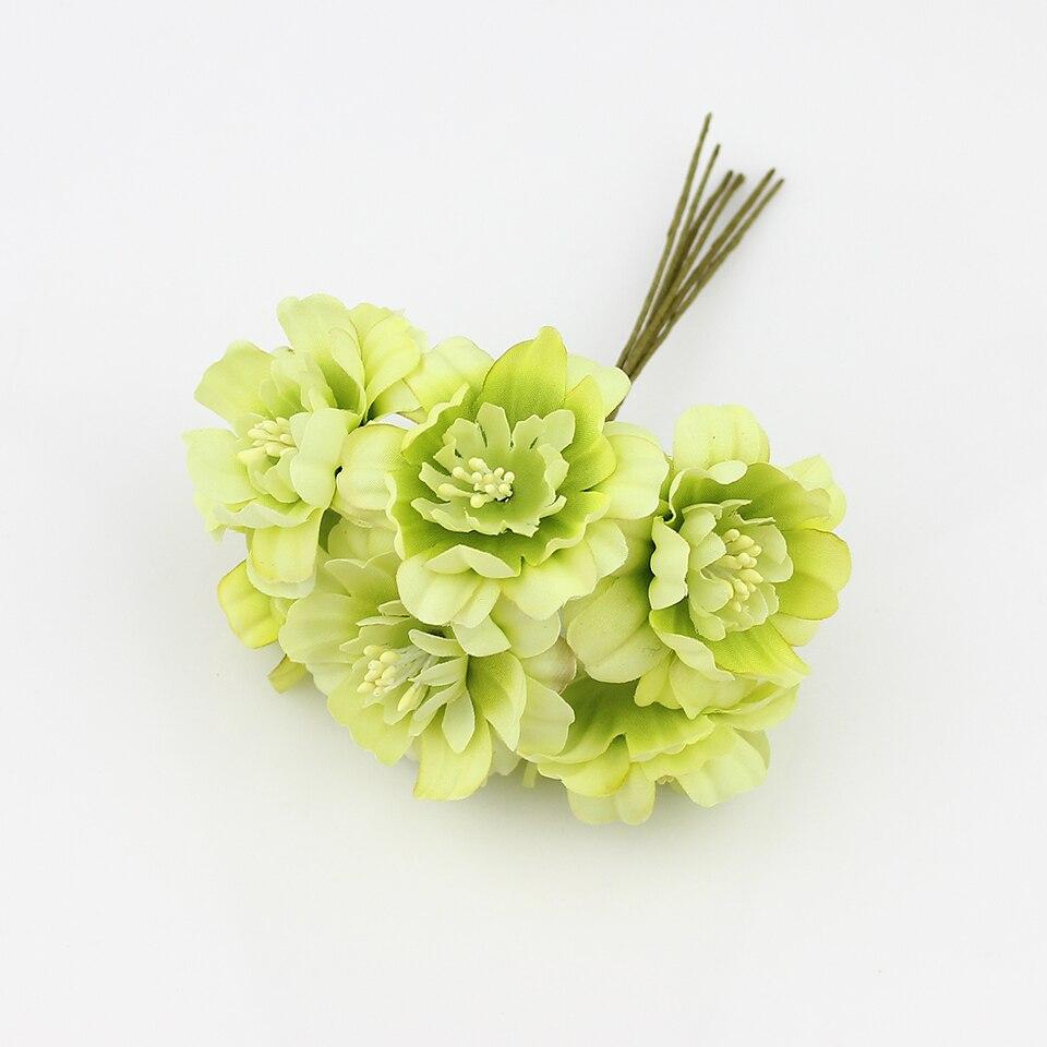 Hot sale 5cm silk Artificial plum flowers Bouquet for DIY ...