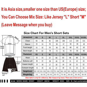Image 5 - 2020 Summer Spain Cycling Jersey Set MTB Uniform Bicycle Clothing Bike Clothes Wear Mens Short Maillot Culotte Sports Suit
