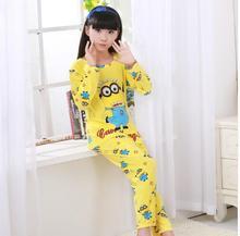 New Listing 2017 Autumn Spring Baby Sleepwears Suit Lovely Gilr Pajamas Children font b Pyjamas b