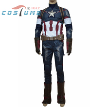 Avengers Age of Ultron Captain America Steve Rogers Adult Army Uniform Outfit Jacket Pant Star Halloween Cosplay Costume For Men