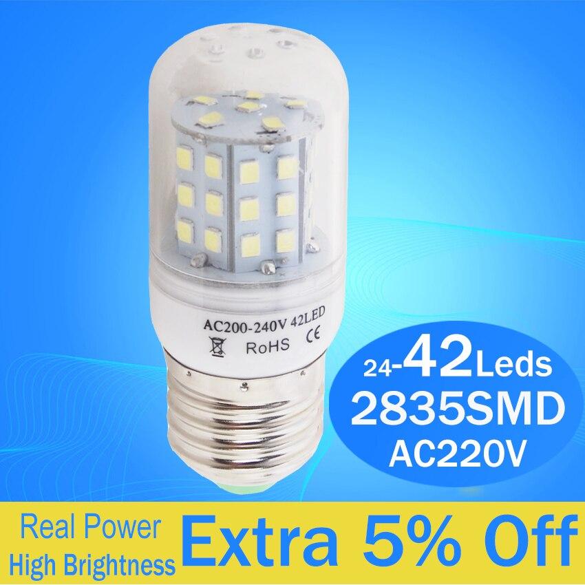 No Flicker Led Bulb Bombillas Led Lamp E27 2835 Corn Bulb Christmas Light Led Candle Lighting Led Spotlight For Indoor Lighting