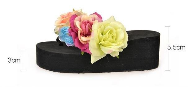 Cadute Delle Pantofole 1 Sandalia Zapatillas Modo Donne Chinelo Dei Sandali 5 Scarpe Nuovi Cunei Del 3 4 Vibrazione Fiore Estate Piattaforma 2 Di Pgpq5x7fw