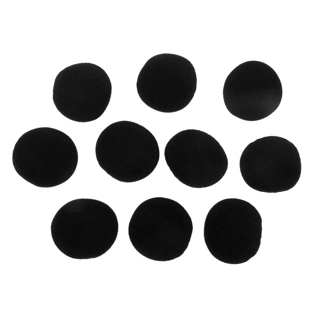 5 Pairs 40mm Replacement Foam Cushion Headphone Cover - Black