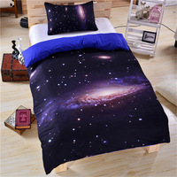 Home Textile 3D 3pcs Bedding Set Bed In A Bag Bedclothes King Size Galaxy Bed Cover Set Discount Bedspread Queen for Bedroom