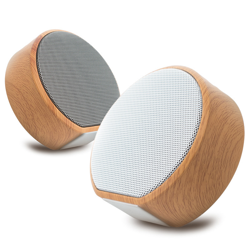 A60 Bluetooth Sound Box Mini Portable Wireless Wood Shell BT4.1 Unobstructed Radio Play TF Card Strong Compatibility BT Speaker