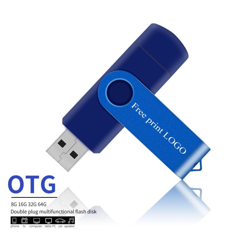 usb flash drives OTG pen drive 32gb pendrive personalized usb stick 128gb 4gb 8gb 16gb 64gb for smartphone metal logo            (5)