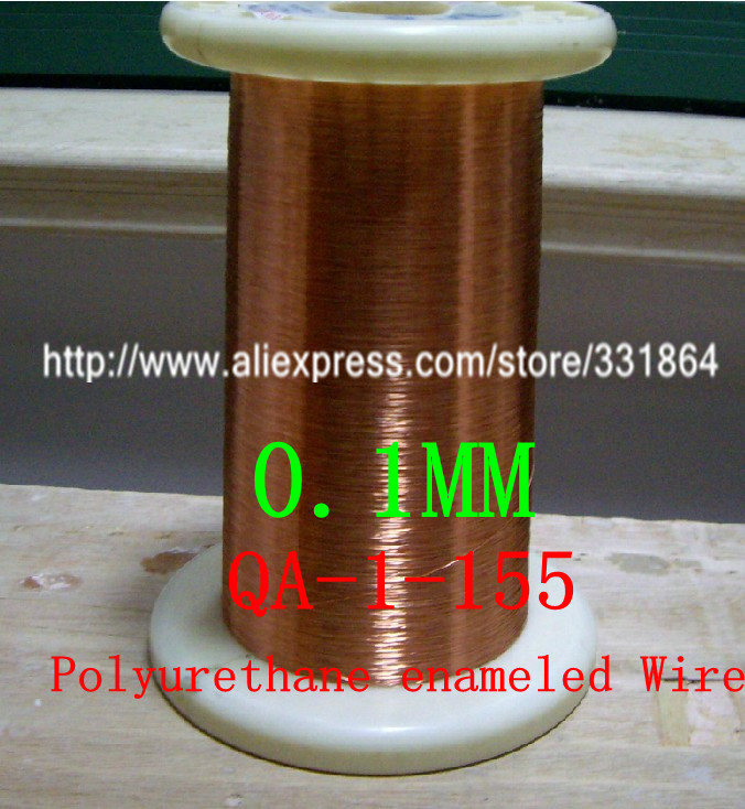 0.1mm *5000m / pcs QA-1-155 Polyurethane enameled Wire Copper Wire enameled Repair free shipping 0 35mm 500m qa 1 155 polyurethane enameled wire copper wire enameled repair cable