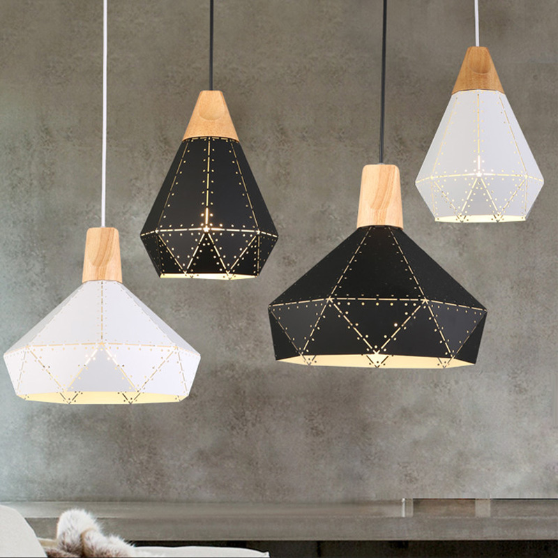 Nordic Industrail Pendant Lights Modern Wooden Pendant Lamps Hollow Restaurant Lamp Postmodern Loft Home Decoration LightingNordic Industrail Pendant Lights Modern Wooden Pendant Lamps Hollow Restaurant Lamp Postmodern Loft Home Decoration Lighting
