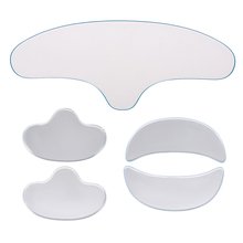 Kırışıklık karşıtı yüz Pad seti kullanımlık tıbbi sınıf silikon alın nazolabial kıvrımlar Anti aging maskesi önlemek yüz kırışıklık