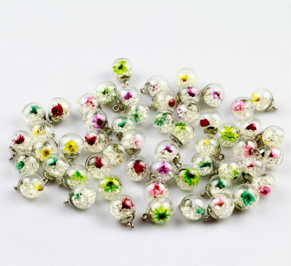 ₩50 stücke 16mm Runde Getrocknet Mini Daisy Blume Perlen Für DIY ...