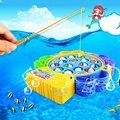 New Eletrônico Brinquedos de Plástico de Pesca 15 Peixes 4 Hastes Com Música Jogo De Pesca Peixe Elétrico Brinquedos Educação Crianças Juguetes Presente