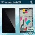 Nuevo para el nokia lumia 720 pantalla lcd de pantalla táctil con la asamblea del digitizador + frame + herramientas