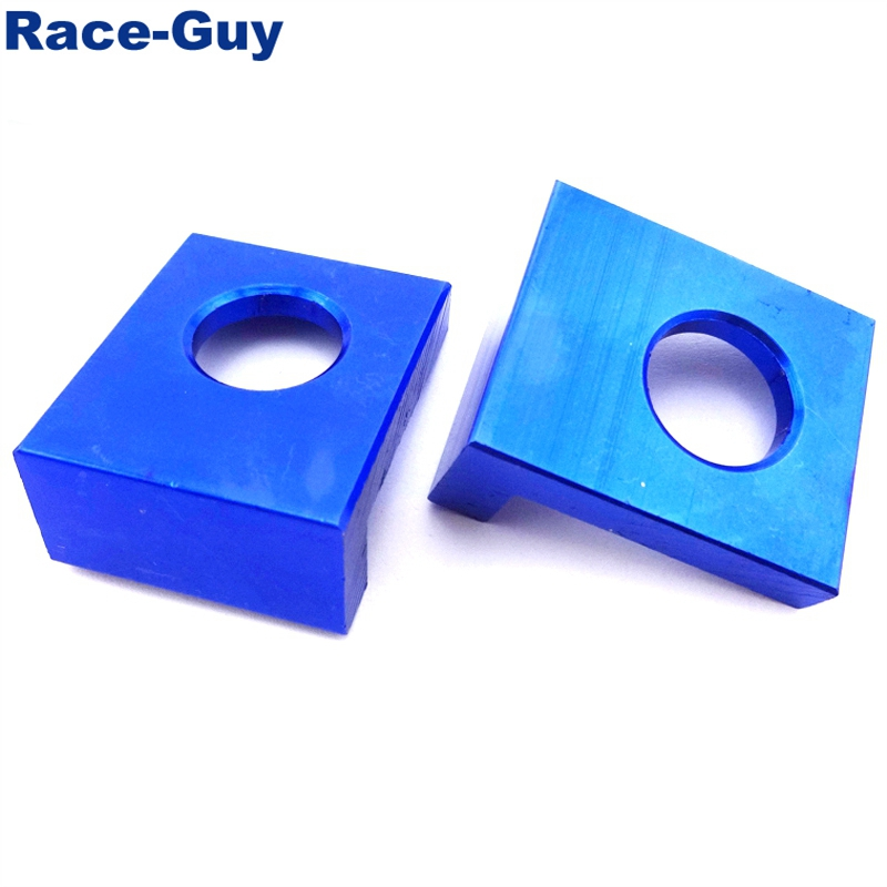 TC-Motor Blue CNC Aluminum15mm Chain Adjusters Axle Blocks For Chinese Pit Dirt Motor Bike Motocross Motorcycle